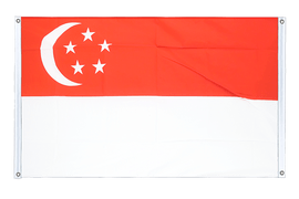 Singapore - Banner Flag 3x5 ft, landscape