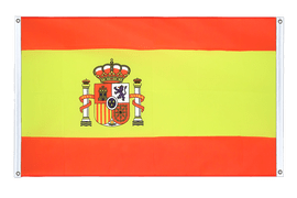 Spain with crest - Banner Flag 3x5 ft, landscape