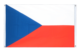 Czech Republic Grommet Banner Flag - 3x5 ft, landscape