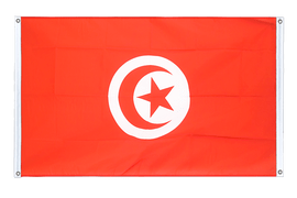 Banner Flag Tunisia - 3x5 ft, landscape