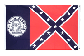Georgia old - Banner Flag 3x5 ft, landscape
