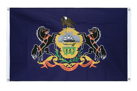 Pennsylvania - Banner Flag 3x5 ft, landscape