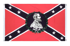 USA Southern United States General Lee - Banner Flag 3x5 ft, landscape