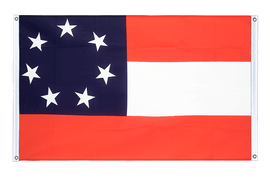 USA Southern United States Stars and Bars 1861 - Banner Flag 3x5 ft, landscape