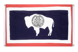 Wyoming - Banner Flag 3x5 ft, landscape