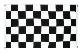 Checkered - Banner Flag 3x5 ft, landscape