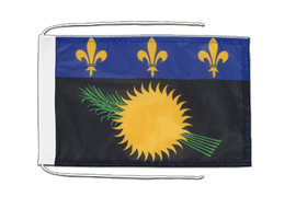 Guadeloupe - Flag with ropes 8x12""