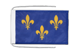 Île-de-France - Flag with ropes 8x12""