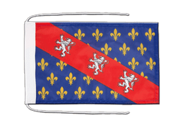 County of La Marche - Flag with ropes 8x12""
