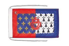 Pay de la Loire - Flag with ropes 8x12""