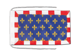 Touraine - Flag with ropes 8x12""
