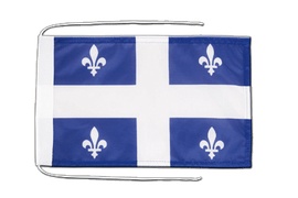 Quebec - Flag with ropes 8x12""
