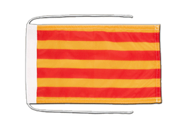 Catalonia - Flag with ropes 8x12""