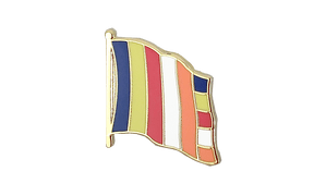 Pin's drapeau Bouddhique - 2 x 2 cm