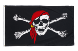 Pirate with bandana - Premium Flag 3x5 ft CV