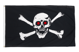 Pirate with red eyes - Premium Flag 3x5 ft CV