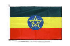 Ethiopia with star Boat Flag - 2x3 ft