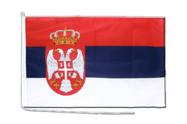Serbia with crest - Boat Flag PRO 2x3 ft