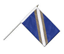 Champagne Ardenne - Stockflagge PRO 30 x 45 cm