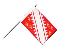 Alsace - Hand Waving Flag 12x18""
