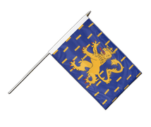 French Comte Hand Waving Flag - 12x18""