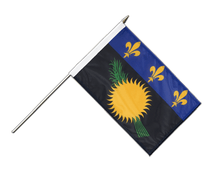 Guadeloupe - Hand Waving Flag 12x18""