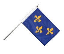 Île-de-France - Hand Waving Flag 12x18""