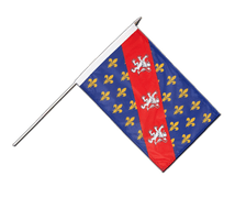 County of La Marche - Hand Waving Flag 12x18""