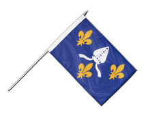 Saintonge - Hand Waving Flag 12x18""