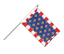 Touraine - Hand Waving Flag 12x18""