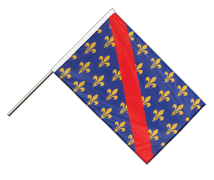 Bourbonnais - Hand Waving Flag PRO 2x3 ft