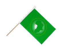 African Union AU - Hand Waving Flag 6x9""