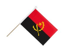 Angola - Hand Waving Flag 6x9""
