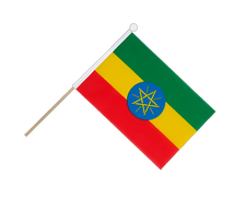 Ethiopia with star - Hand Waving Flag 6x9""