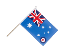 Royal Australian Air Force - Hand Waving Flag 6x9""