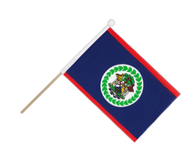 Belize - Hand Waving Flag 6x9""