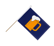 Beer - Hand Waving Flag 6x9""