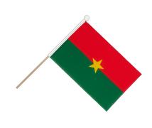 Burkina Faso - Hand Waving Flag 6x9""
