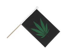 Cannabis Reggae - Hand Waving Flag 6x9""