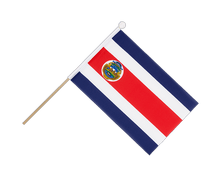 Costa Rica - Hand Waving Flag 6x9""
