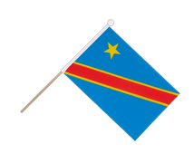 Democratic Republic of the Congo - Hand Waving Flag 6x9""