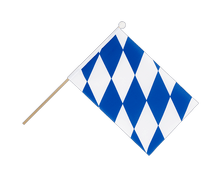 Bavaria without crest - Hand Waving Flag 6x9""