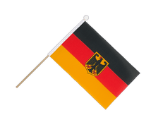 Germany Dienstflagge - Hand Waving Flag 6x9""
