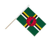 Dominica - Hand Waving Flag 6x9""