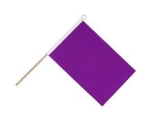 Purple - Hand Waving Flag 6x9""