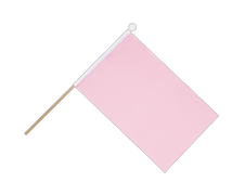 pink - Hand Waving Flag 6x9""