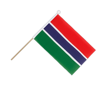 Gambia - Hand Waving Flag 6x9""