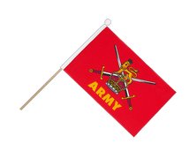 British Army - Hand Waving Flag 6x9""