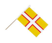 Dorset - Hand Waving Flag 6x9""