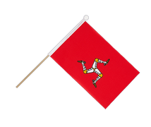 Isle of man - Hand Waving Flag 6x9""